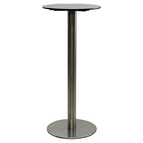 Oasis I Round Bar Table, Gray/Black