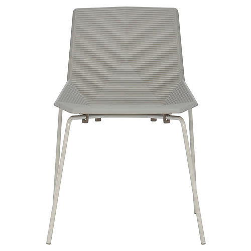 Green Side Chair, Light Gray