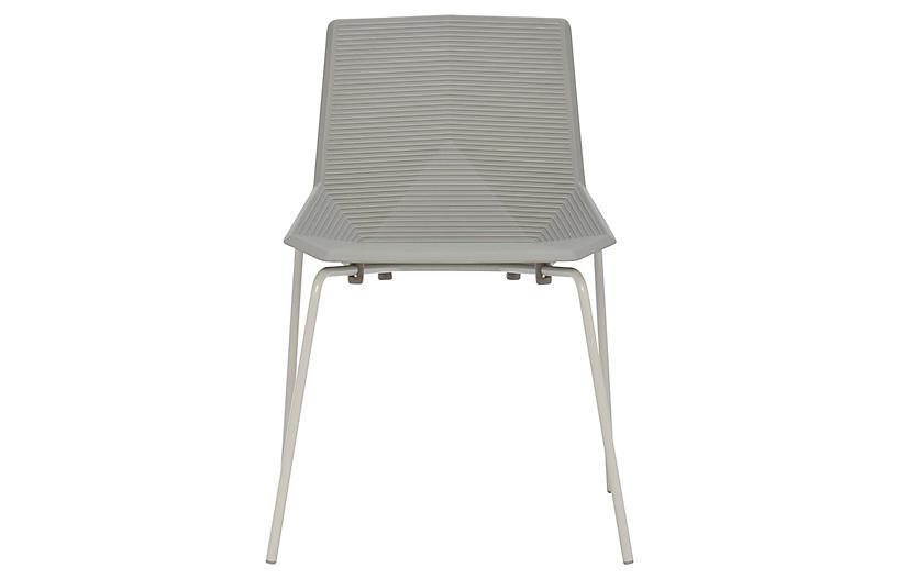 Green Side Chair, Light Gray
