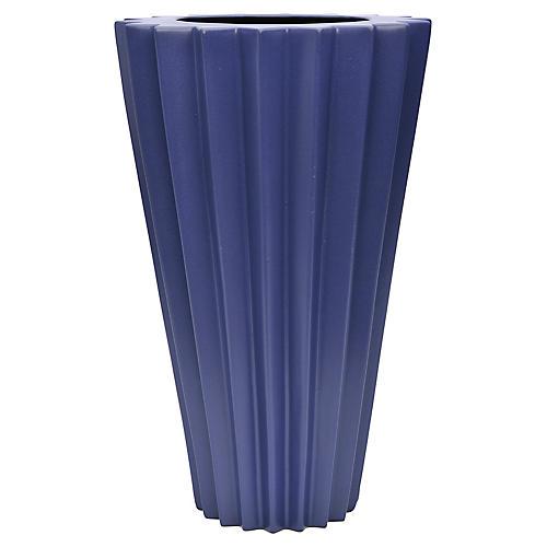 "18"" Arris Grande Vase, Cobalt"