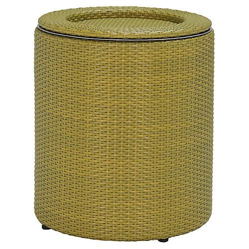 "20"" Woven Ice Bucket, Bamboo Green"