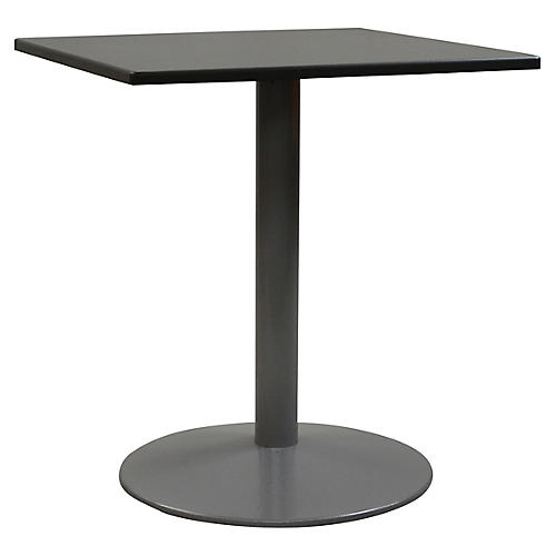 Tonda I Square Outdoor Bistro Table, Silver