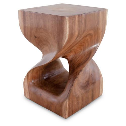 Twist Wood Stool
