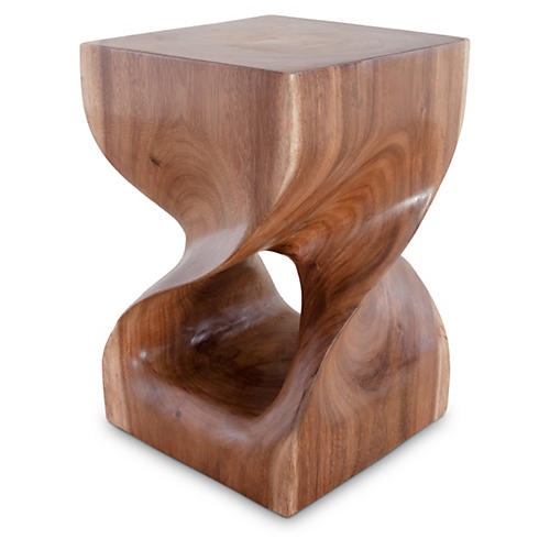 Twist Wood Stool