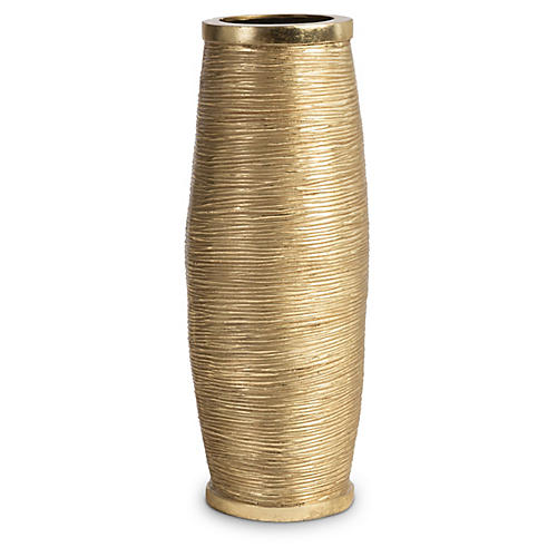 Spun-Wire Vase, Gold