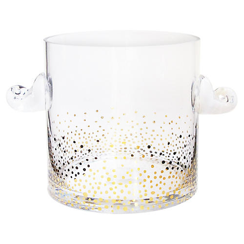 Luster Ice Bucket, Gold