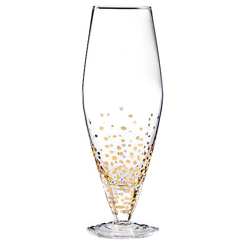 S/4 Luster Prosecco Wineglasses, Clear/Gold