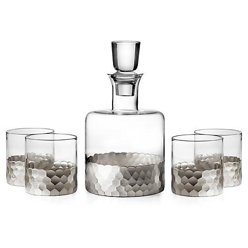 Asst. of 5 Daphne Decanter Set, Silver