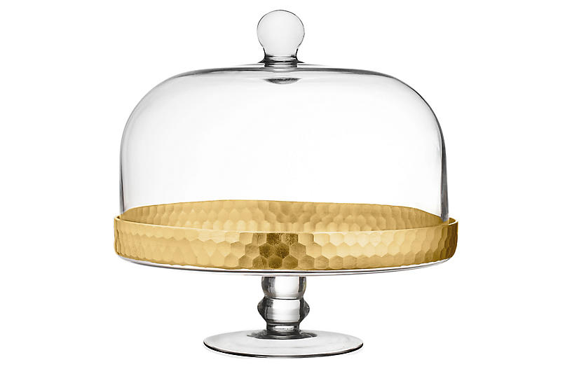 Daphne Dome Cake Stand, Gold