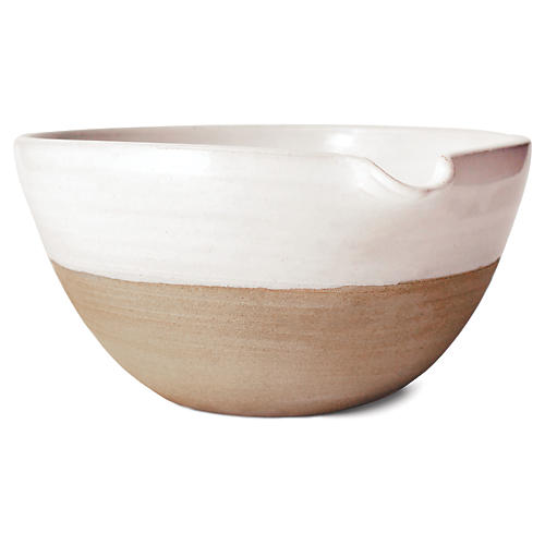 Pantry Mixing Bowl, White/Natural