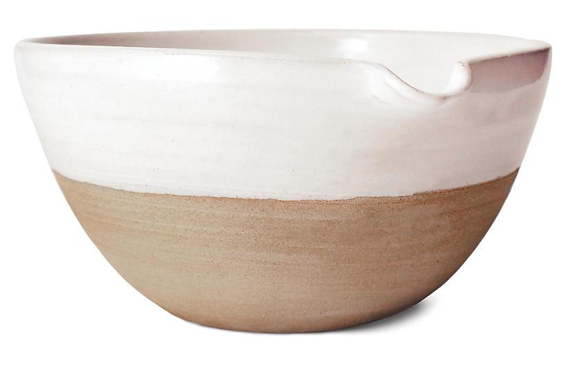 Pantry Mixing Bowl, White/Natural