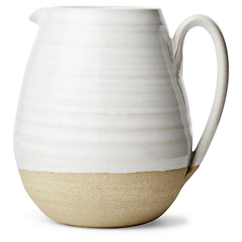 Farmer's Pitcher, Natural/White