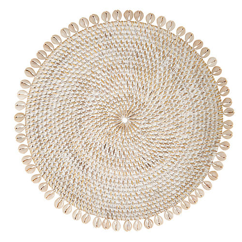 S/4 Shelby Place Mats, Bone/Ivory