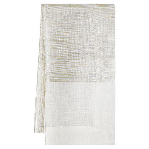 S/4 Dijon Dinner Napkins, Ivory/Gold