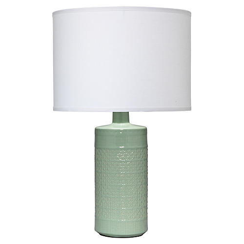 Astral Table Lamp, White/Celadon