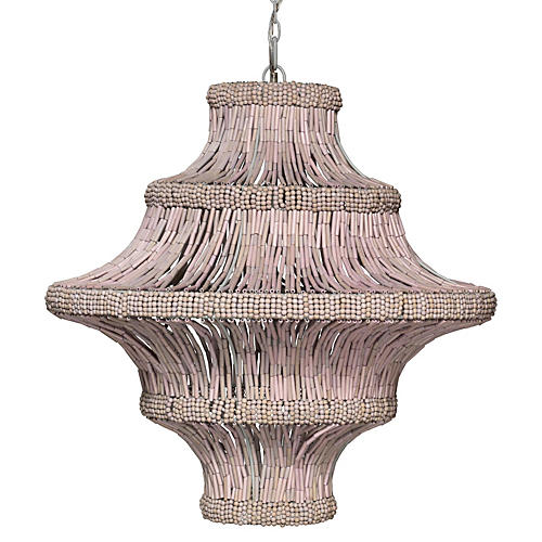 Whisper 5-Light Chandelier, Blush