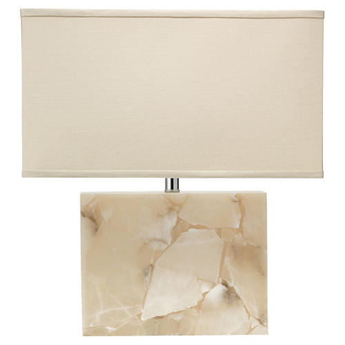 Borealis Table Lamp, Alabaster