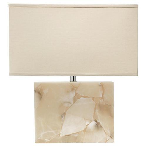 Borealis Table Lamp, Alabaster
