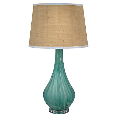 Scavo Table Lamp, Sky Blue