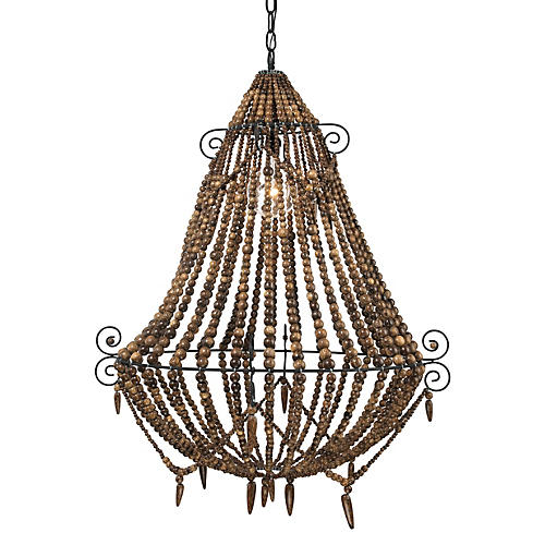 Tulum Chandelier, Brown