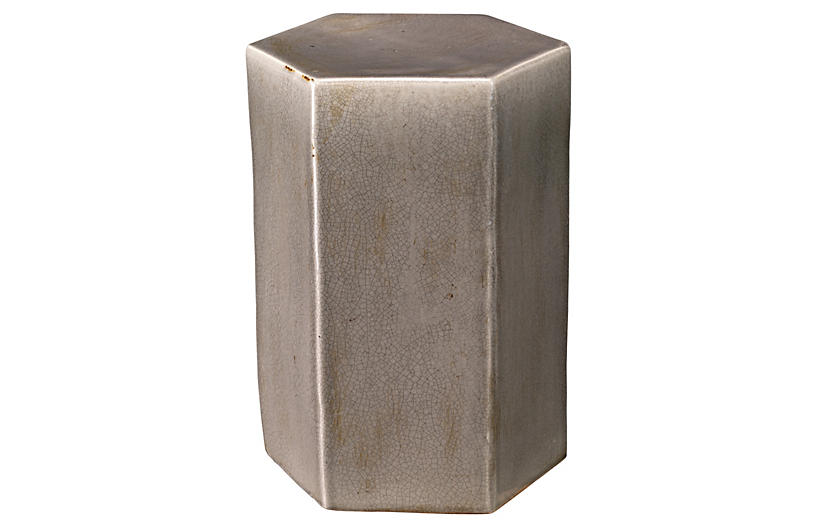 Large Porto Outdoor Side Table, Gray