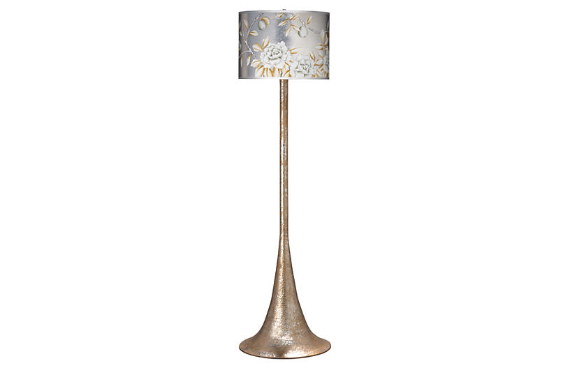 Hammered Floor Lamp - Platinum - Jamie Young