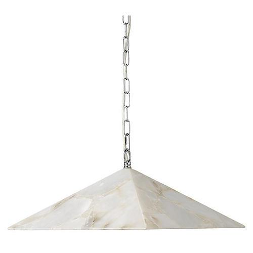 Borealis Pyramid Pendant, Alabaster