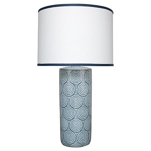 Hamptons Table Lamp, Blue