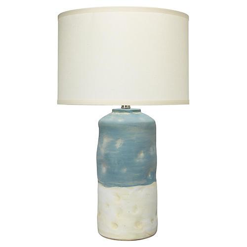 Sedona Table Lamp, Blue/White