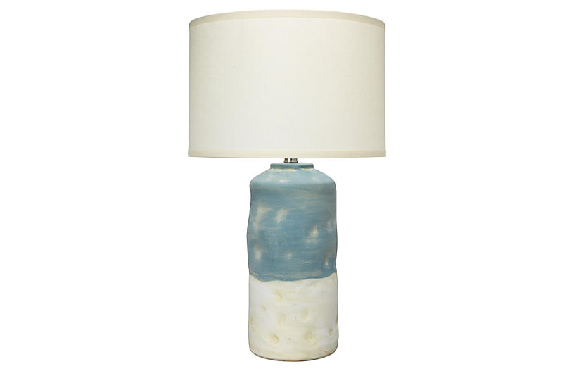 Sedona Table Lamp, Blue/White