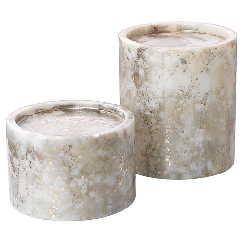S/2 Orion Candleholders, Silver/Gold