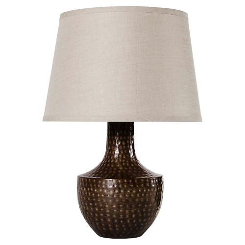 Kettle Table Lamp, Mocha/Tan