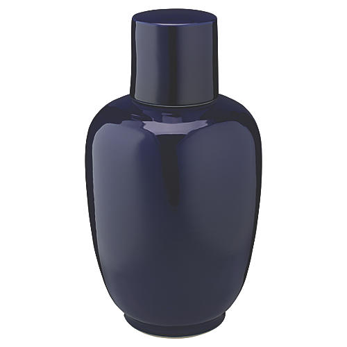 "15"" Dynasty Medium Vase, Navy"