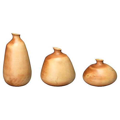 Asst. of 3 Organic Vases, Natural