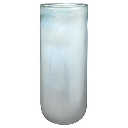 "20"" Vapor Large Vase, Metallic Opal"