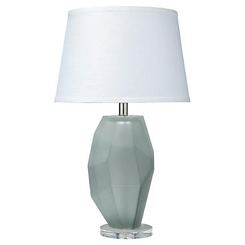 Prism Table Lamp, Frosted Gray
