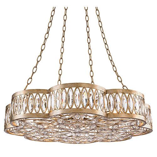 Diamante 8-Light Chandelier, Silver