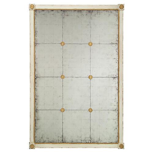 Floor Mirror, Antiqued Gray