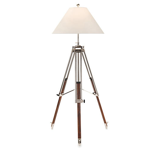 Tripod Floor Lamp, Nickel