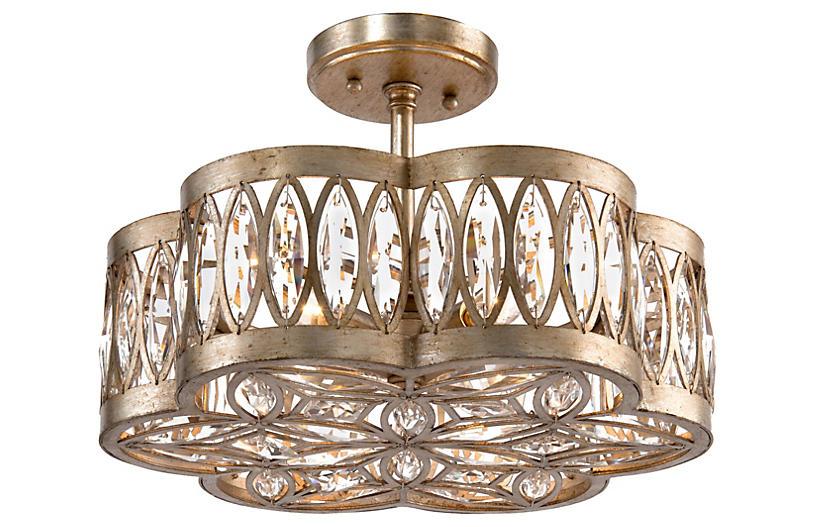 Diamante 6-Light Semi-Flush - Silver - John-Richard