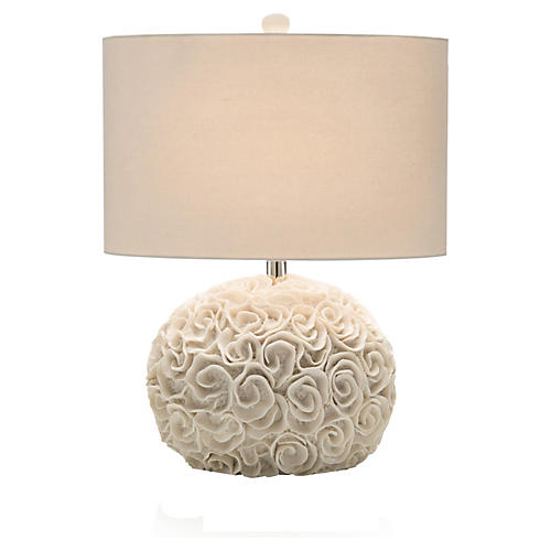 Ribbon Cluster Table Lamp, White