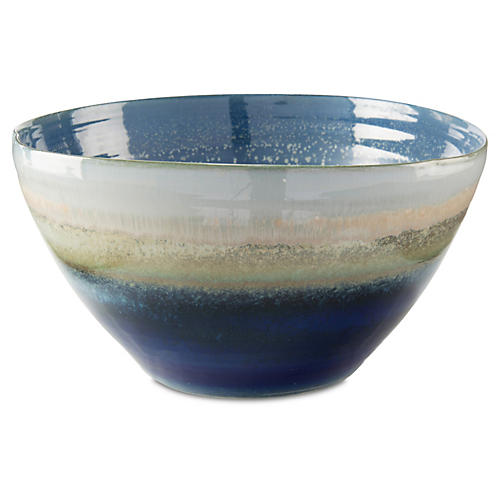 "16"" Reactive Bowl, Blue"