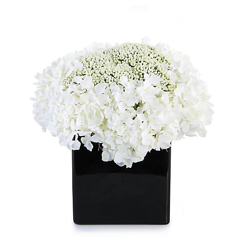 """11"""" Hydrangeas in Vase, Faux"""