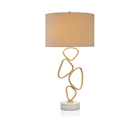 Defy Gravity Table Lamp, Gold Leaf