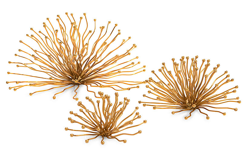 Sunray Wall Sculptures - Gold - John-Richard