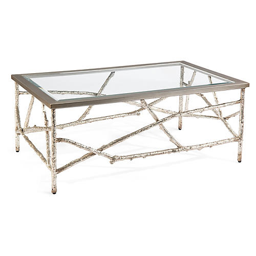 Branches Coffee Table, Silver