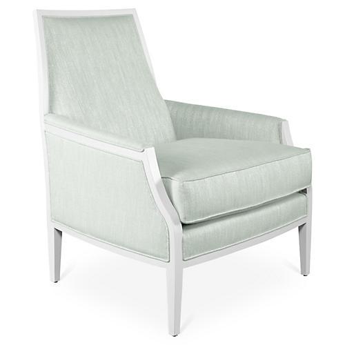 Bergen Chair, Mist Sunbrella