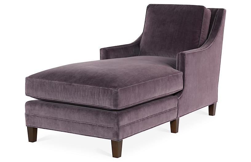 Salon Chaise, Fig Velvet