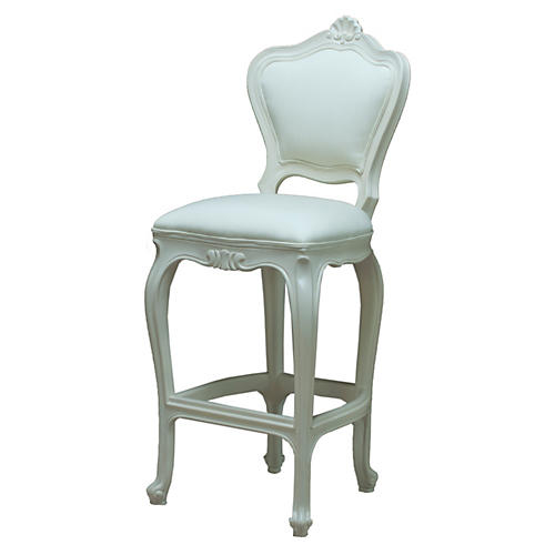 Chantilly Outdoor Barstool, Beige