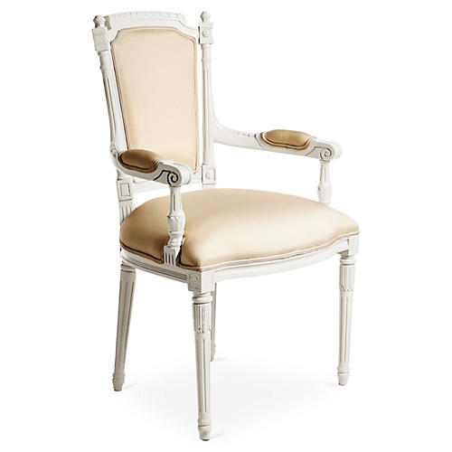 Bristol Outdoor Armchair, White/Beige